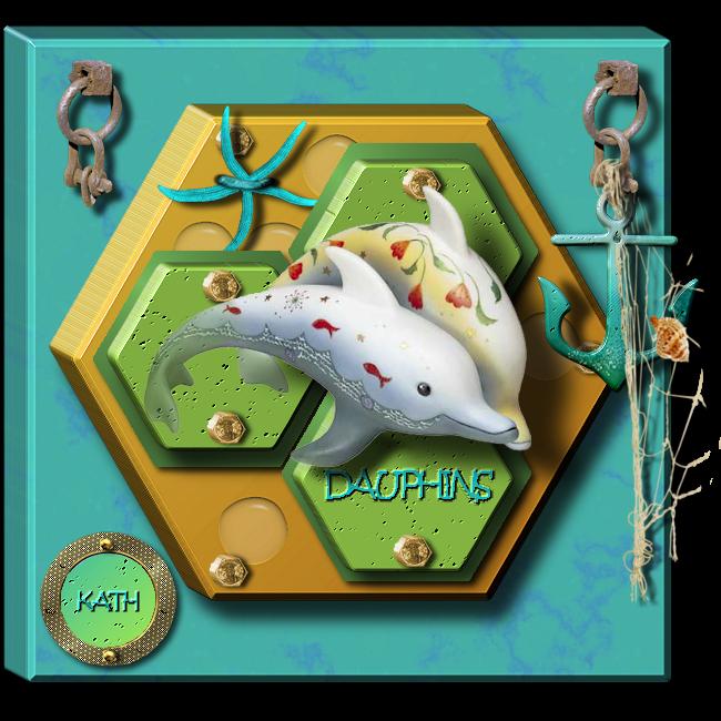 TEMPLATE en 3D : DAUPHINS