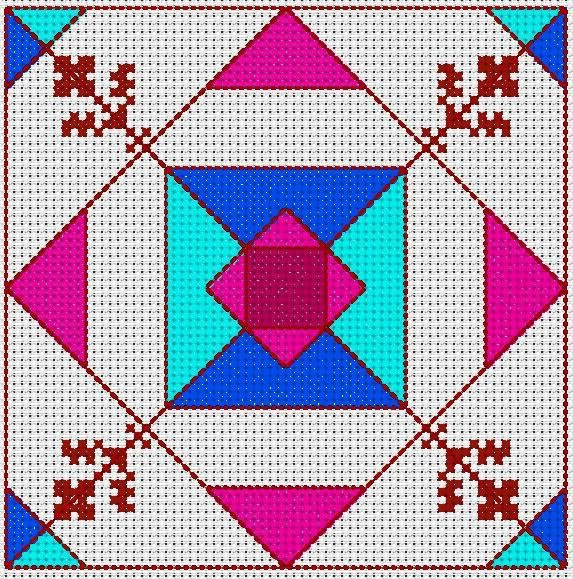 biscornue zigouigoui géométrique 2