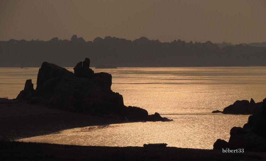 coucher de soleil sur Bréhat