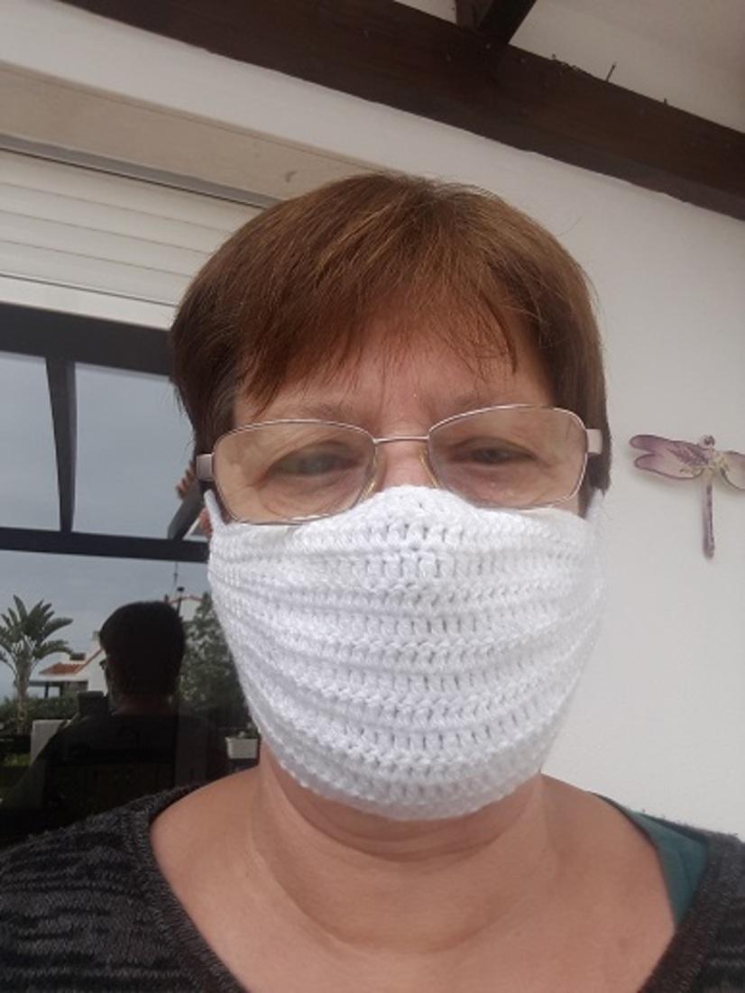 Masques réalisés au crochet