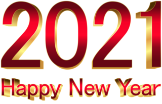 This png image - 2021 Red Gold New Year PNG Clipart, is available for free download