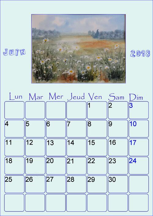 calendrier à imprimez Février 2018 mois de la St Valentin