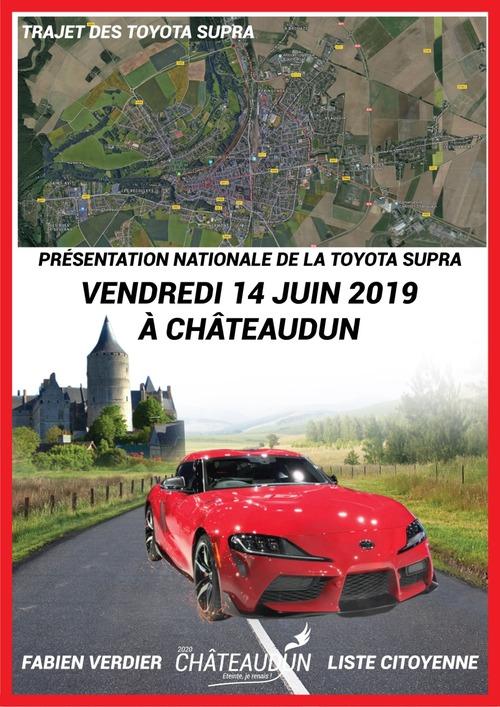 Affiche - Toyota Supra à Châteaudun