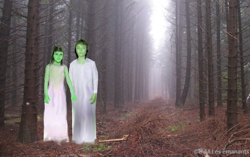 Les enfants à la peau verte