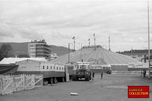 le cirque Jean Richard à Annemasse en 1973, photos d'Hubert Tièche -1ère partie (archives Philippe Ros)
