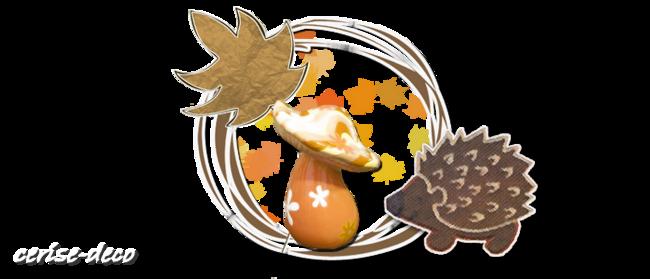design champignon automnale
