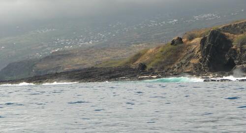 Côte ouest de l'île vue depuis l'océan