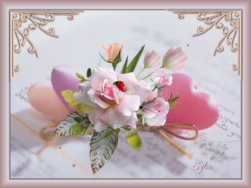 Coeurs fleuris  ღ
