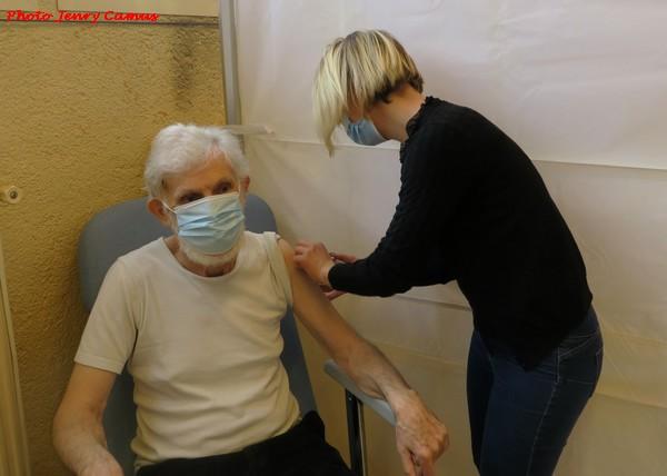 Des vaccinations contre le COVID 19 ont été réalisées à  Recey sur Ource