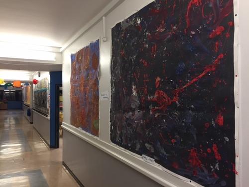 Couloir, galerie d'art