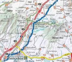 4ème étape : Pamplona - Cizur Menor  Puente-la-Reina  env 19 km