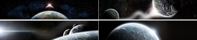 Vues des planètes dans l'espace