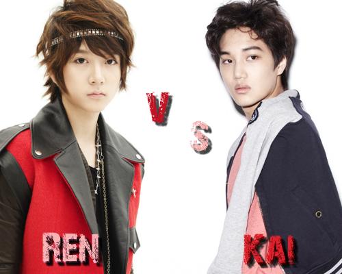 Ren (NU'EST) vs Kai (Exo-K) - Round 25