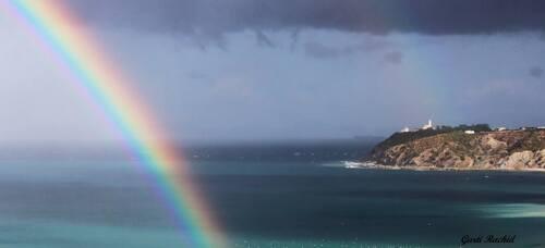Un bel arc en ciel sur Tanger...
