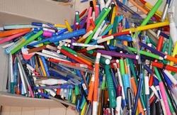 recyclages des stylos usagés