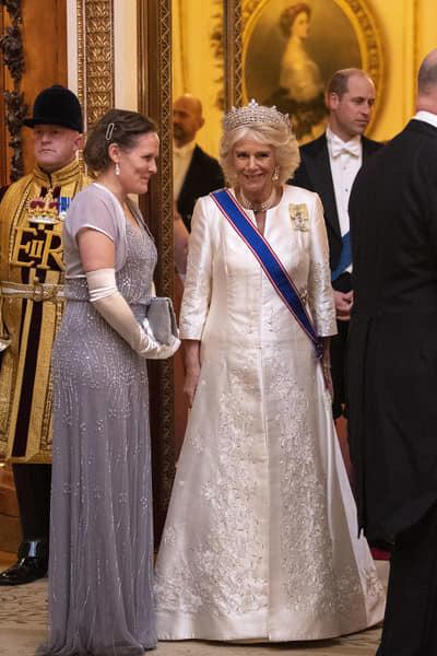 Dîner pou le corps diplomatique à Buckingham