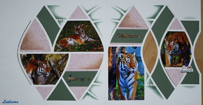 Pages de scrap, gabarit Savannah -2