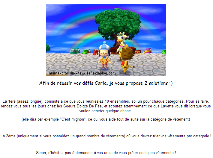 défis Leaf Animal de Crossing Carla New Les rCodxeB