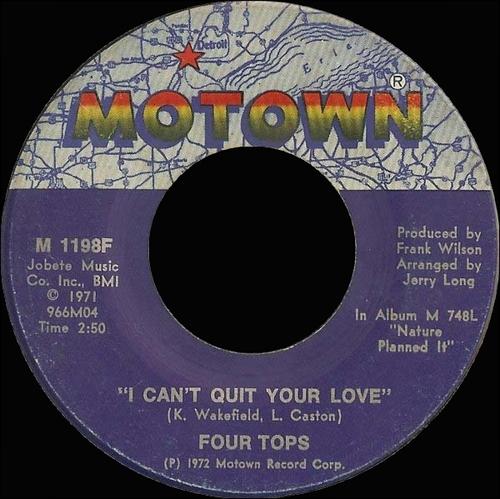 "The Four Tops : Album "" Nature Planned It "" Motown Records M 748L [ US ]"
