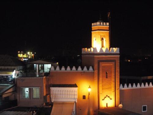 Mosquée éclairée