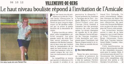 BELLE REUSSITE POUR LE 1er National 64 D de l'Amicale Boule