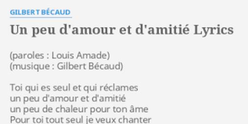 """Résultat de recherche d'images pour """"gilbert bécaud un peu d'amour et d'amitié"""""""