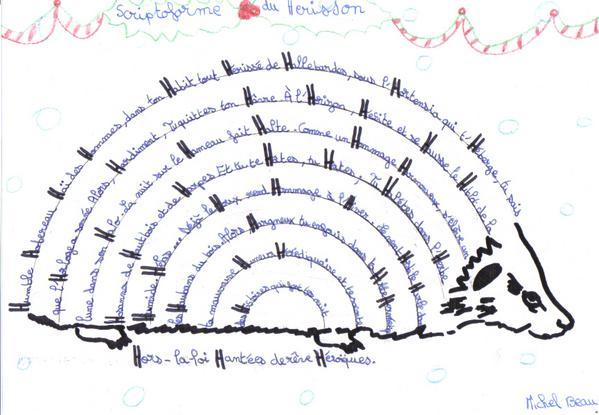 Scriptoforme Du Hérisson Le Blog De Lécole De Noailly