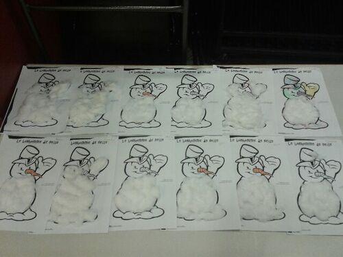 nos bonhommes de neige