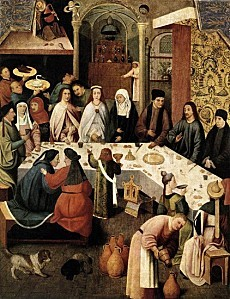 Hieronymus Bosch - Marriage Feast at Cana
