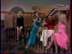 1973, la robe bleue à résilles.