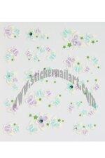 Stickers d'ongles vol de papillons en été