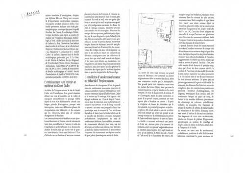 Revue Drômoise extrait sur l'article des fouilles du GRAND-CEDRE - quartier CHAPELAINS et SAINT-JEAN - image/photos pouvant être protégées ;