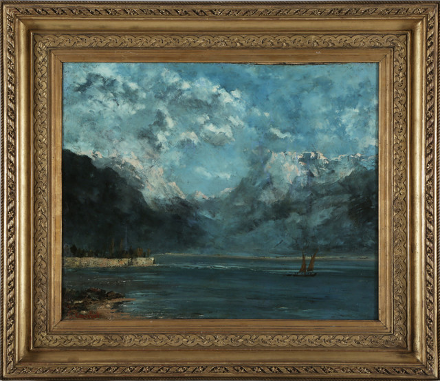 """Courbet """"Vue du lac Léman"""""""