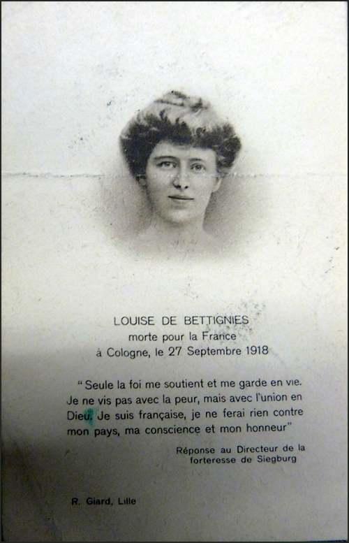 15 Juillet 1880 : naissance de Louise de Bettignies