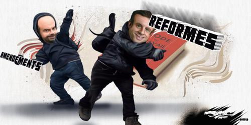 dessin de JERC et texte d'AKAKU du lundi 10 décembre 2018 caricature Emmanuel Macron, Edouard Phillipe les casseurs les manu-festations cassent ta ner-vosité www.facebook.com/jercdessin @dessingraffje