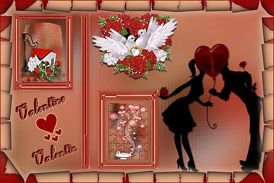 Valentine Valentin création personnelle avec le filtre xénofex