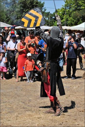 Photos de soldats médiévaux à l'épée