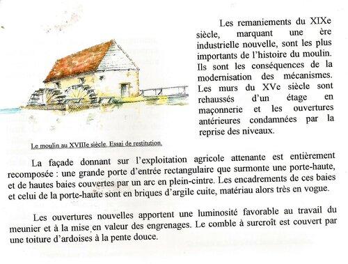 Le moulin banal de Fillé sera celui de Cyprien à l'aube du XX° siècle (1900).