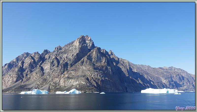 Poursuite de la navigation dans le Fjord Uummannaq direction Illulissat - Groenland