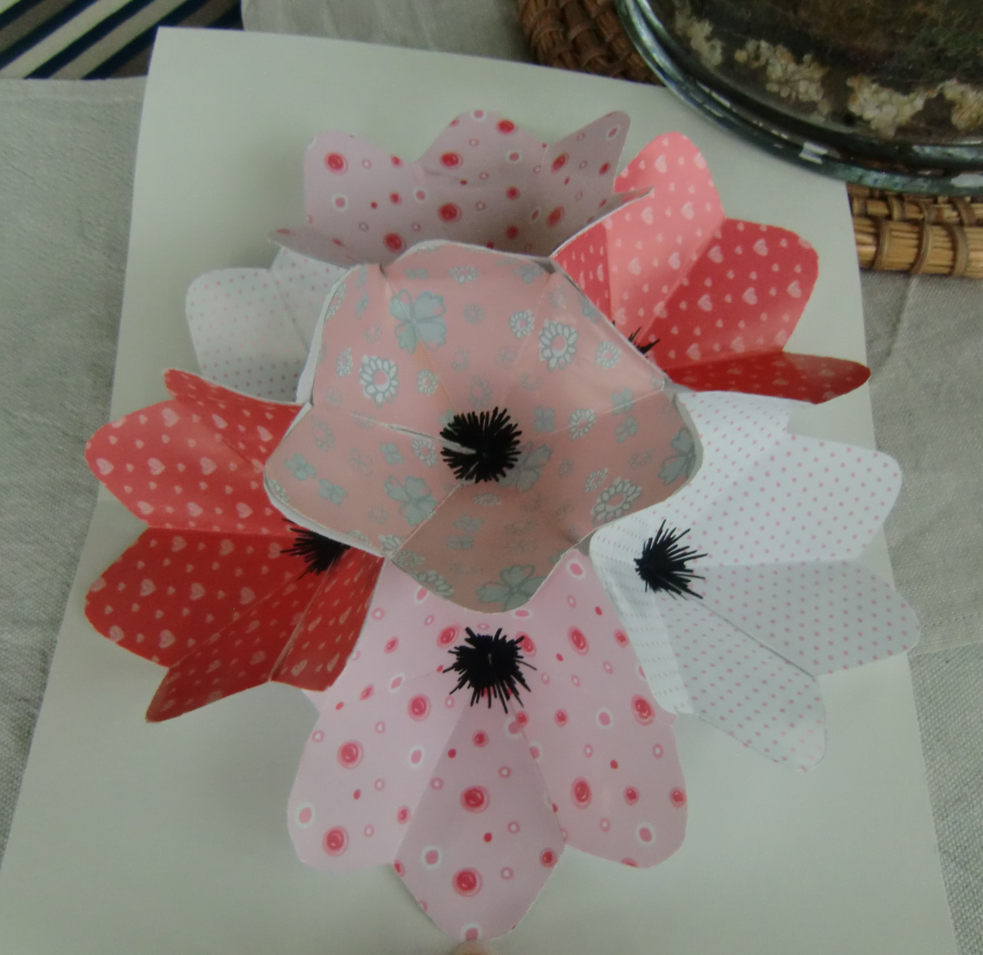 Tuto Une Carte Pop Up Fleurie Les Creations D Ulane