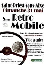 """Sortie à Saint Priest sous Aixe(87) ce 31 mai 2015 avec """" Rétromobile et vide grenier """""""