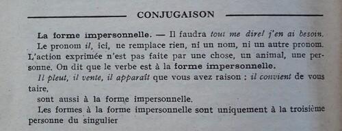 C / la phrase impersonnelle