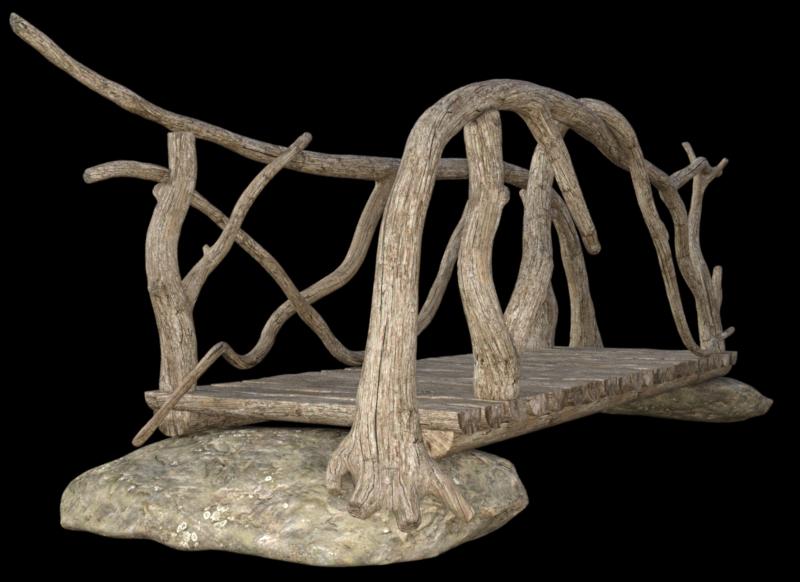 Tube de pont en bois fantasy (image)