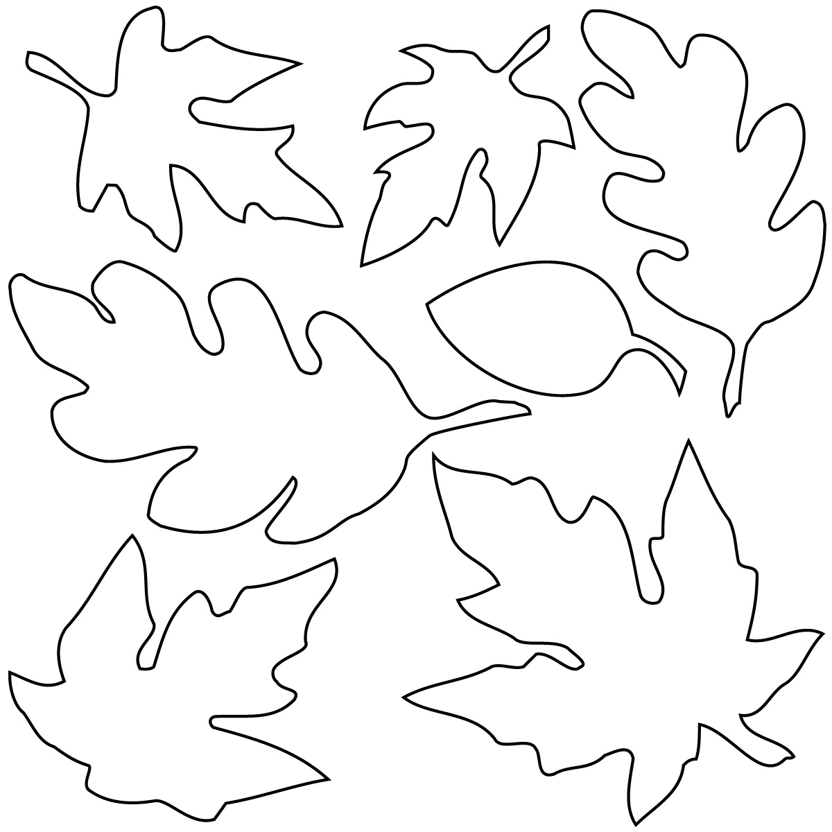 Autumn Leaves Clip Art Black And White | T-O-N