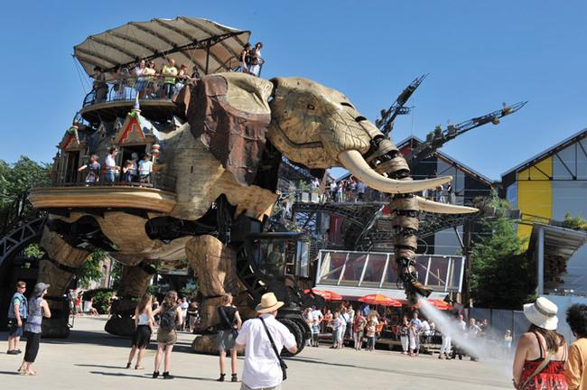 L'histoire des éléphants à Nantes …!!!