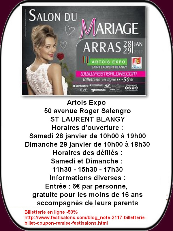 Salon du mariage et autres loisirs à Arras et ses environs ce week-end.