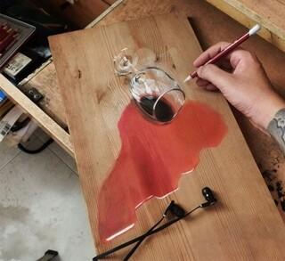 Yvan Hoo l'artiste de la planche de bois