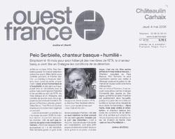 Peio Serbielle, chanteur basque humilié