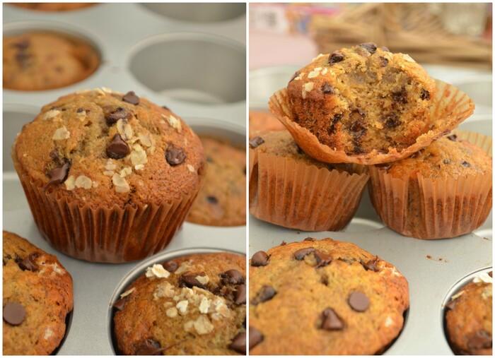 Muffins à la Banane Espresso & Pépite de Chocolat