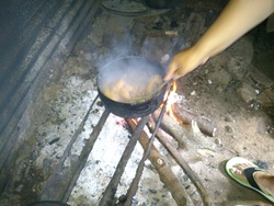 Photos cuisine lontan, feu de bois